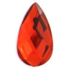 Acrylic 30x17mm Pear Shape Facetted Bright Red